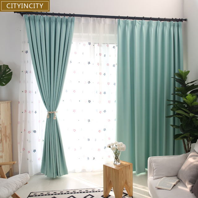 cityincity effen verduisterende gordijnen voor slaapkamer faux linnen darpes moderne dikke gordijn voor woonkamer raam klaar