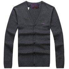 High Quality 2017 New Arrival Eden Park V-Neck Sweater Men Brand-Clothing Knitted Pullover Men Slim Fit Bottoming shirt 028