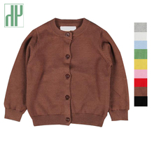 Kids jackets Spring winter Girls Cardigans Candy color long sleeve Casual baby coat for boys Children Outerwear