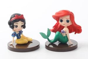 Image 4 - 8 Stks/partij Q Posket Prinsessen Figuur Speelgoed Poppen Sneeuwwitje Belle Mermaid Pvc Figuren Speelgoed