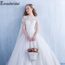 Erosebridal Cut-out Wedding Dress Tulle Wedding Gown Lace up Women Bride Dress off the Shoulder robe de soiree Appliques Dress off the shoulder lace up dress
