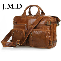 Free Shipping Genuine Leather Travel Hiking Backpack Bag 7026B