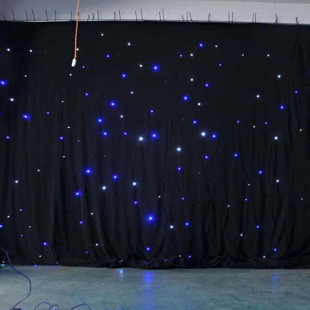 Romantic Starlight Fireproof Wedding LED Backdrop