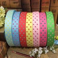 Dot cinta de impresión de materiales de embalaje del arte del regalo de boda accesorios para el cabello diy hecho a mano paquete de alta calidad 100 yard 25mm