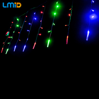 LMID AC220V/110V LED Christmas Lights String Outdoor 4M 120LEDs Fairy Holiday Night Light Garland Party Decoration Curtain Light