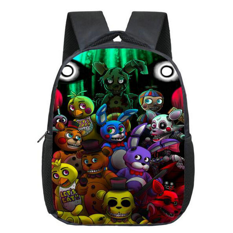 Boys Cartoon Backpacks Children School Bags FNAF Kindergarten Backpack Chica Bonnie Foxy Freddy Fazbear Bags