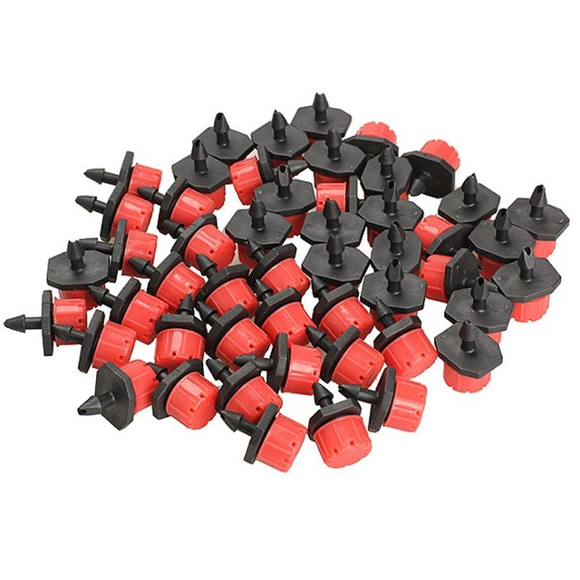 100pcs 1/4 Inch Micro Dripper Adjustable Micro Flow Dripper Drip Head Water Dropper for agriculture, garden, sprinkler