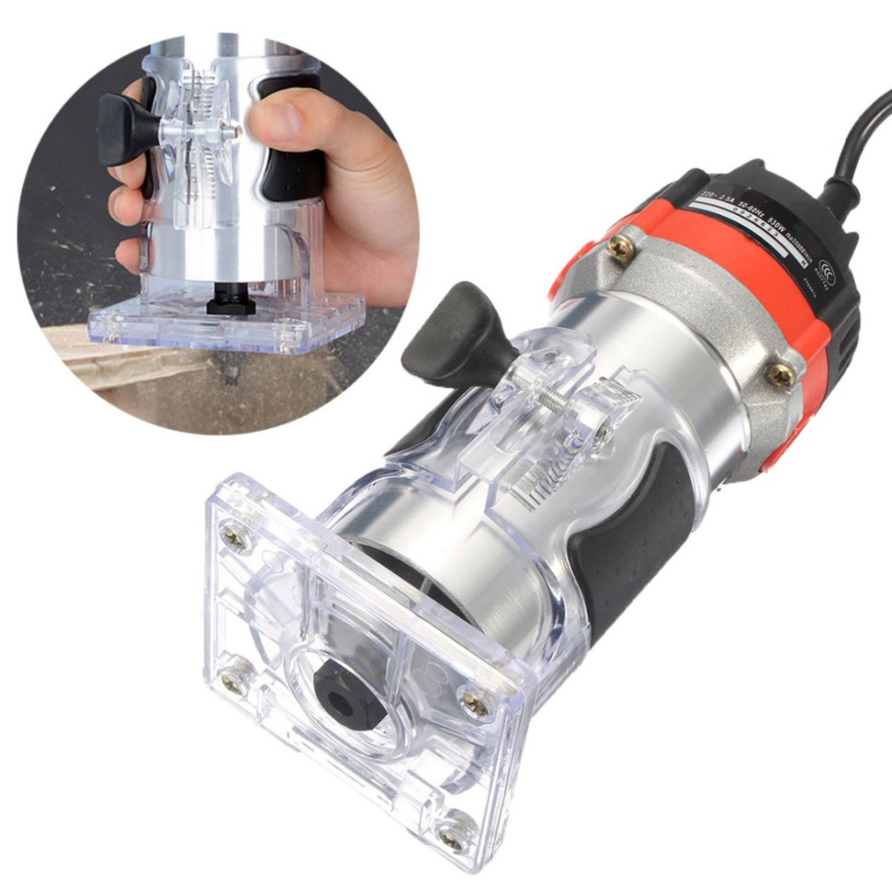 220 V 530 W électrique main tondeuse bois garniture routeur 1/4 ''bois routeur tondeuse routeur outils pour le travail du bois gravure outils de forage