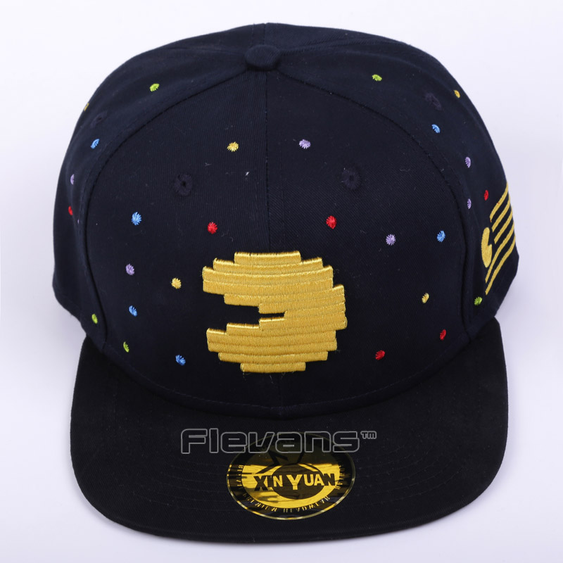 Pacman Snapback Hat &   cap   fashion Adjustable Ghost And Pac Man   Baseball     Cap   Unisex 2 Styles