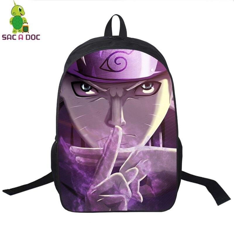 Anime Naruto School Bag Teens Boys Girl Students Back to School Book Bag Laptop Backpack Naruto Uzumaki Kurama Printing Backpack new style school bags for boys