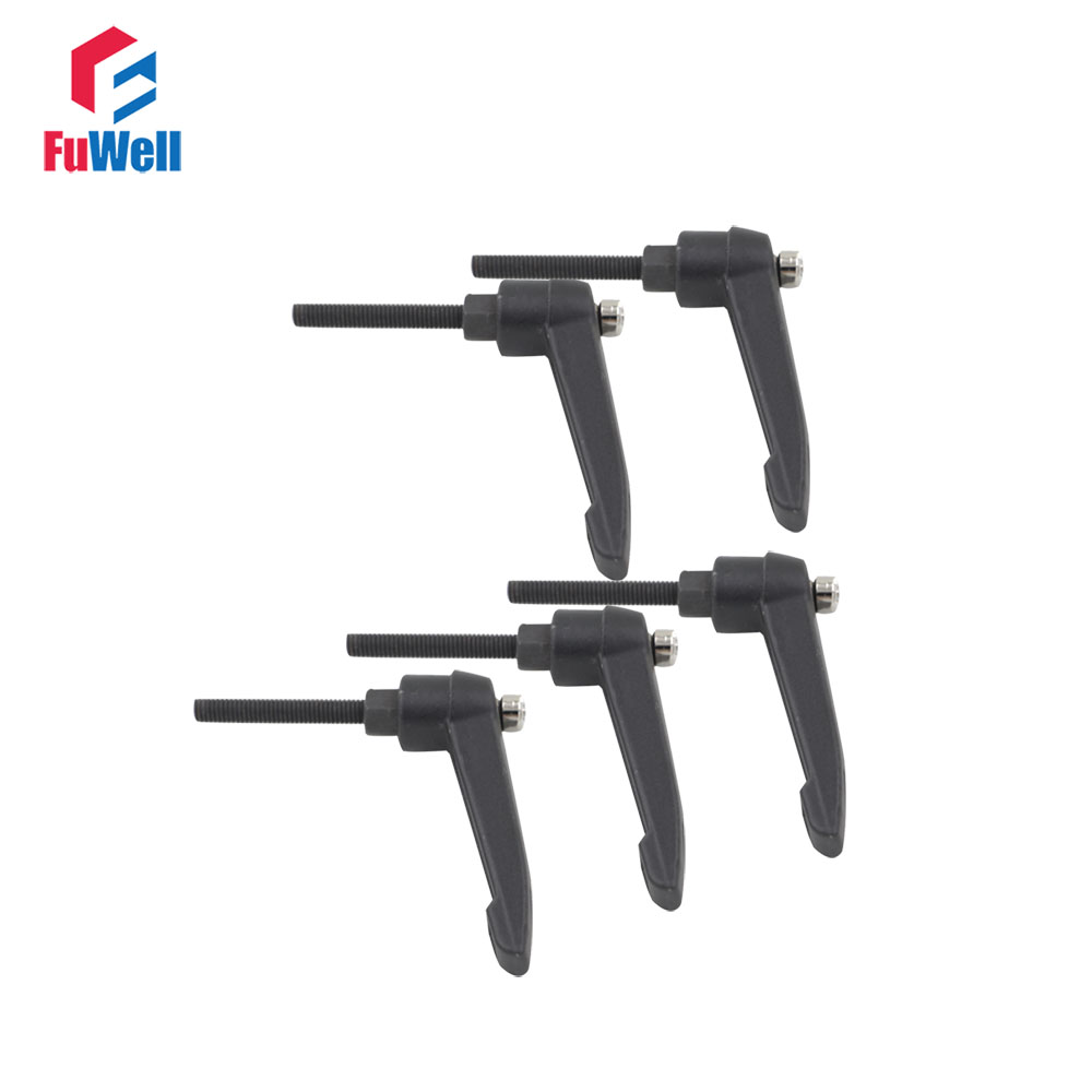 5pcs M5 Thread Adjustable Handle Lever M5x16/M5x20/M5x30/M5x40/M5x50mm Clamping Handles 5mm Thread Metal Knob Machinery Tools akg pae5 m