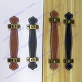 Hole Pitch 96mm/128mm brown/black leather furniture handle/modern style leather handle/door pull/handle
