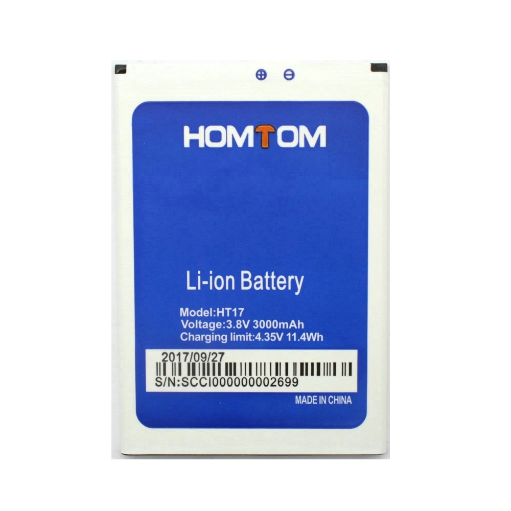 2019 New <font><b>Homtom</b></font> HT17 Battery 3000mAh 100% Original For <font><b>HOMTOM</b></font> HT 17 Pro HT17-Pro Smart Phone Bateria Batterie Baterij In Stock image