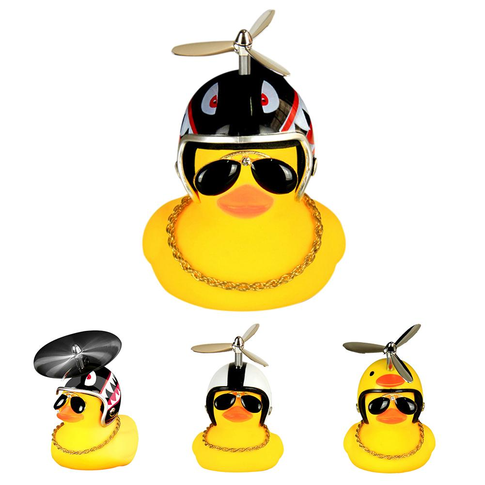 New Cartoon Yellow Silica Gel Little Duck Shape Bicycle Bells Shining Mountain Bike Handlebar Duck Head Light Accessories