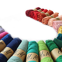 2018 Fashion Women Scarf Solid Color Soft Silk Satin Long Scarves