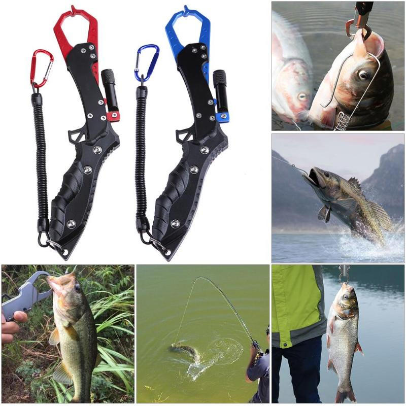 Outdoor Portable Anti Slip Fish Controller Gripper Night Fishing Tools w/ Light Fishing Accessories Equipment Pesca Tackle