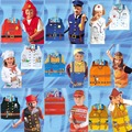 halloween costume for kids Halloween cosplay costume  child role-playing clothes firefighters police party chef service engineer