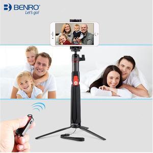 Image 5 - Benro SC1 ألياف الكربون ترايبود صغير selfie عصا بلوتوث اللاسلكية للهواتف الذكية Gopro عمل الكاميرا لينة 3 4