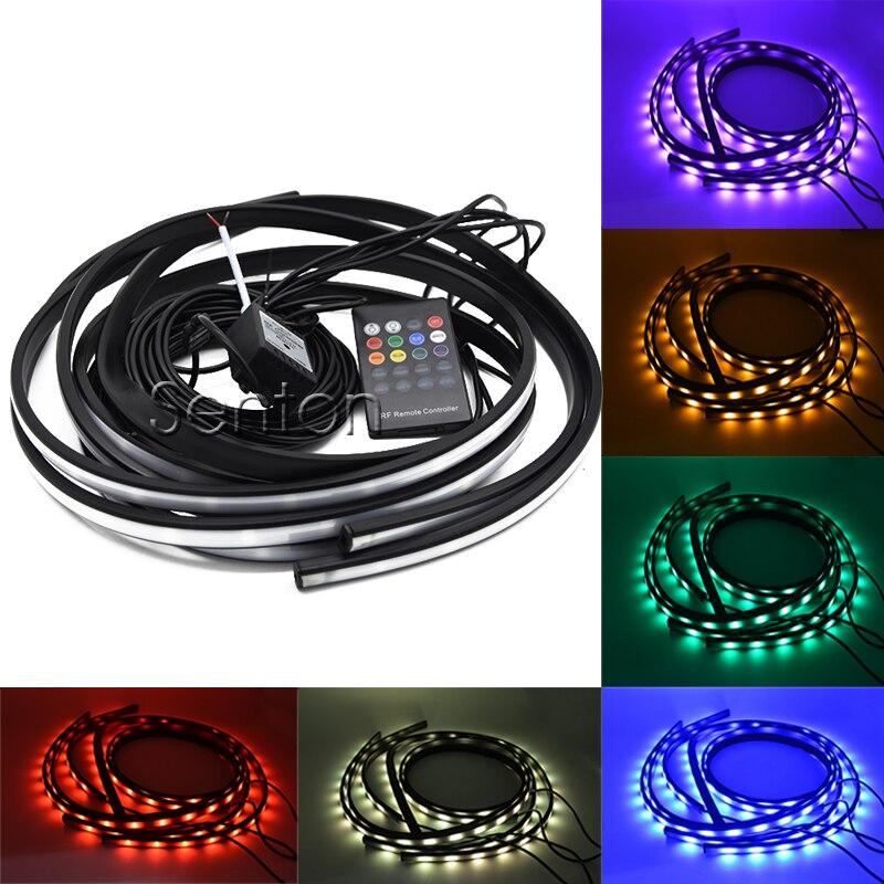 Auto Led Chassis Lampe Unterboden Glow Licht Mit Fernbedienung Musik