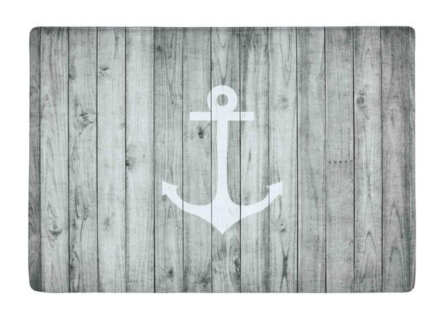 Legno Bianco Vintage : Tappetino vintage bianco di trasporto marittimo di ancoraggio su
