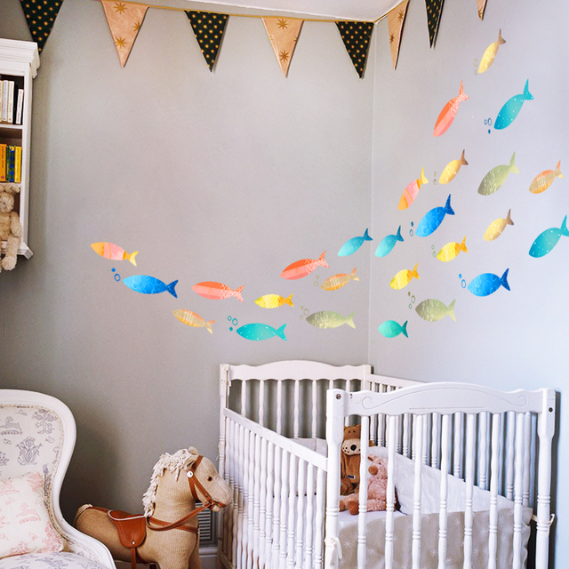 fish wall decal sticker home decor diy removable art vinyl mural for kids