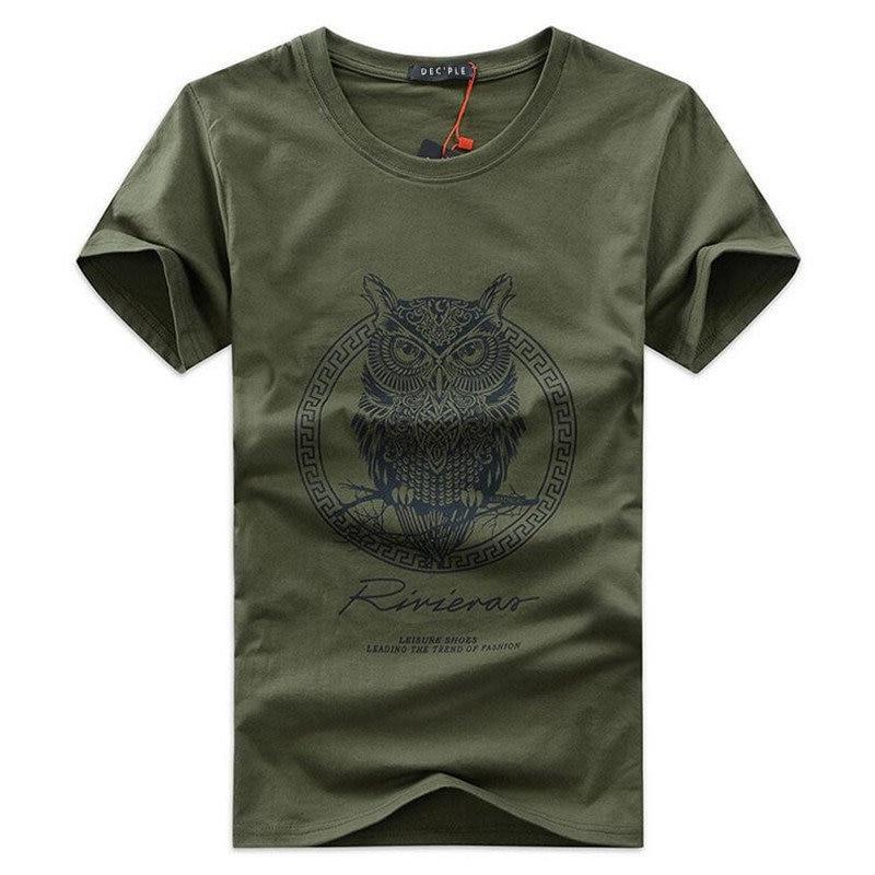 T-shirt manica corta da uomo O-Collo Moda stampato T-shirt aderente Top T-shirt da uomo casual t-shirt in cotone per uomo 5XL