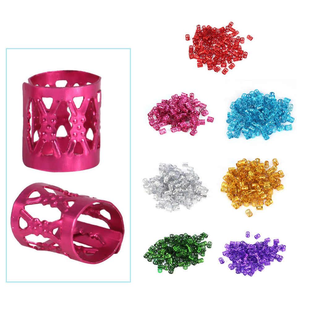 100 шт./пакет волосы оплетка кольцо пластиковые волосы оплетка шарик кольца регулируемые волосы кольцо парик аксессуары волосы красота украшения инструменты