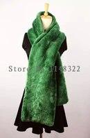 women's 2018 winter fashion fur Scarves shawls collars Long imitation fur scarf, green rabbit fur scarf shawls collars