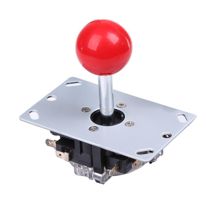 1 Pc Haute Qualité Rouge 8 Voies Jeu D'arcade Joystick Boule Joie Bâton Rouge Boule Remplacement Arcade Joystick