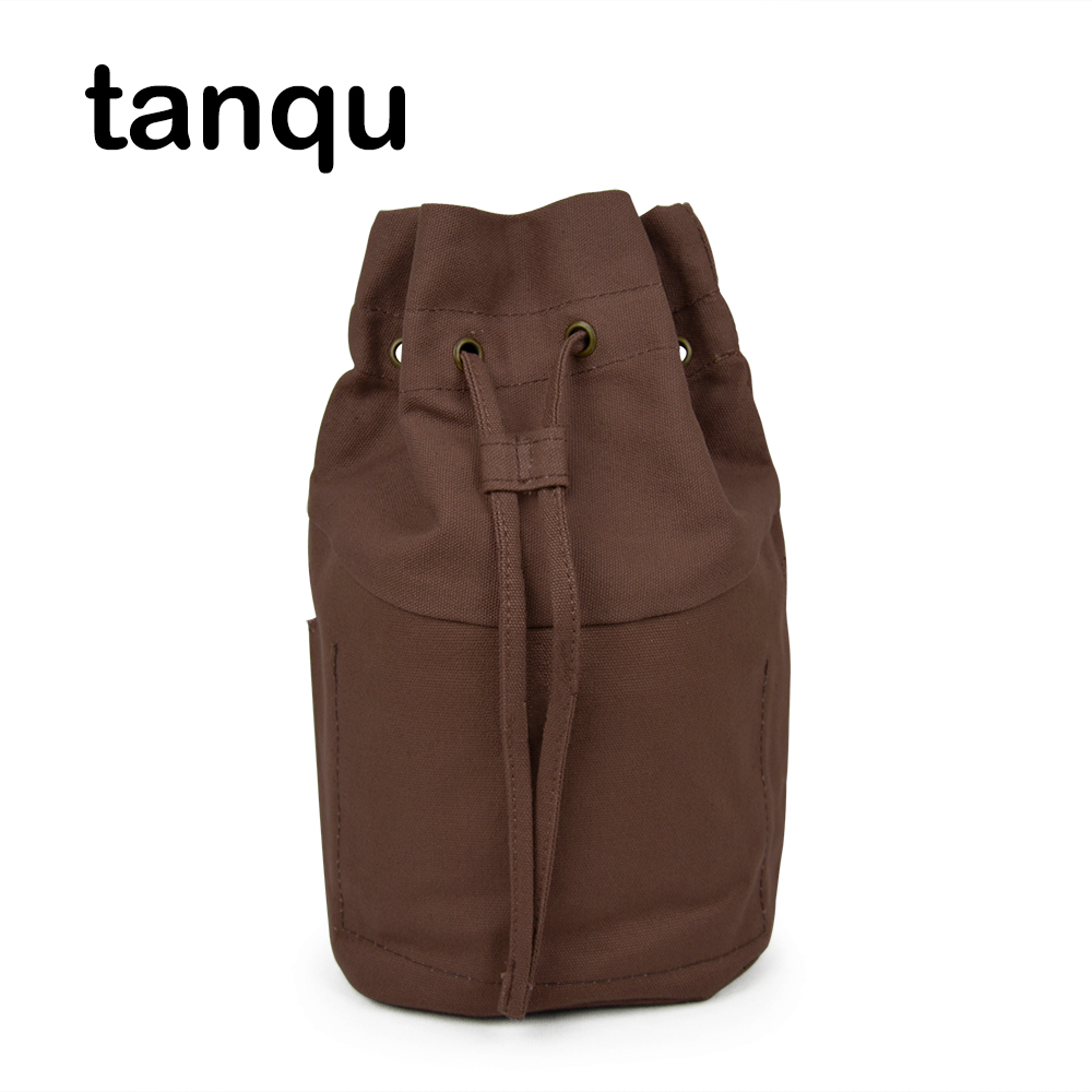 Tanqu Pure Color Drawstring Lining For Obasket Obag Fabric Buckle Canvas Fabric Inner Pocket Handbag Insert For O Basket O Bag