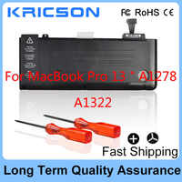 Nouvelle batterie A1322 pour MacBook Pro 13 pouces A1278 (mi 2012 début 2011 fin 2011 milieu 2010 2009), fit MC374LL/A MC375LL/A 020-6547-A