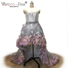fa04c283fb Puffy High Low Prom party Dresses leopard print dress Sexy Off shoulder  Ruched flower Formal Dress