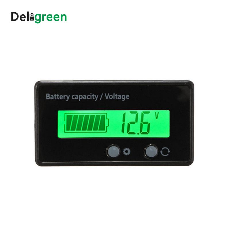 Battery Capacity Indicator Voltage Tester Power Meter DC6-63V For Lithium Lead Acid Battery Pack