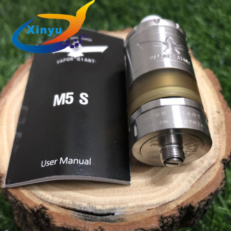 2pcs NEWEST Vapor Giant M5 MTL RTA 5ml 316 stainless steel 23mm Vaporizer VG Extreme RTA Rebuildable E cigarette Hookah Atomizer2pcs NEWEST Vapor Giant M5 MTL RTA 5ml 316 stainless steel 23mm Vaporizer VG Extreme RTA Rebuildable E cigarette Hookah Atomizer