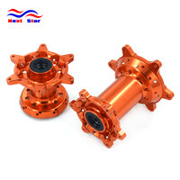 CNC Aluminum Billet Orange Front and Rear Wheels Hub For KTM EXC EXCF XC XCF XCW XCFW SX SXF 125 250 350 450 500 530 2003 2017