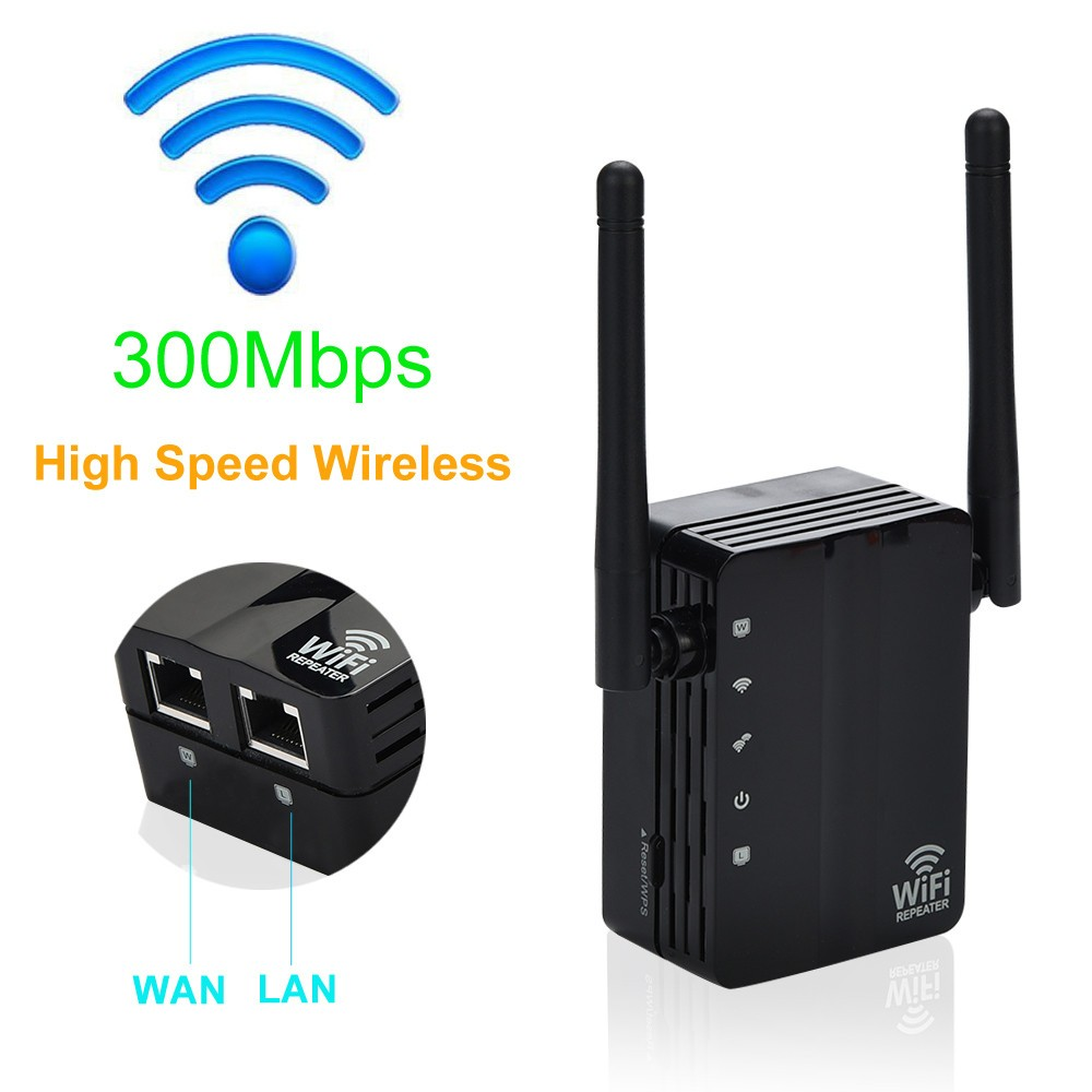 Network Router Wifi-Extender Repeater-Signal-Booster 300mbps Range Home-Use Wireless-N