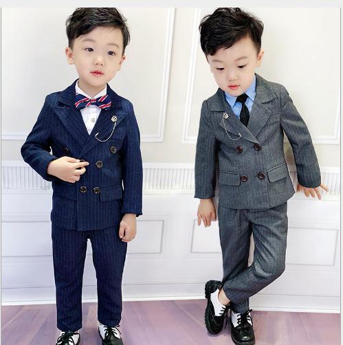 Verão meninos blazer terno para crianças flor de casamento meninos roupas sólido crianças blazer jaqueta pant 2 pçs crianças jaqueta terno para o bebê menino