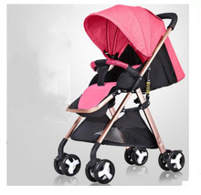 Baby stroller ultra light portable can sit reclining folding 0-3 years old high landscape children car baby hand push umbrella