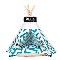 JORMEL Fashion 2019 Pet Tent Dog Bed Cat Toy House Portable Washable Pet Teepee Stripe Pattern Not Contain Mat