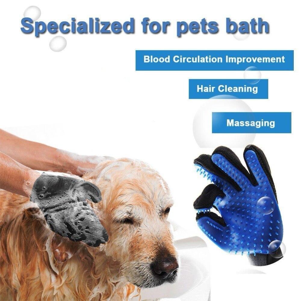 Hot <font><b>Pet</b></font> Brush Glove <font><b>Hair</b></font> <font><b>Removal</b></font> <font><b>Cat</b></font> <font><b>Grooming</b></font> <font><b>Massage</b></font> Bath Brush <font><b>Magic</b></font> Gentle Efficient Groomer <font><b>Dogs</b></font> Combs <font><b>Pet</b></font> Cleaning Supplies
