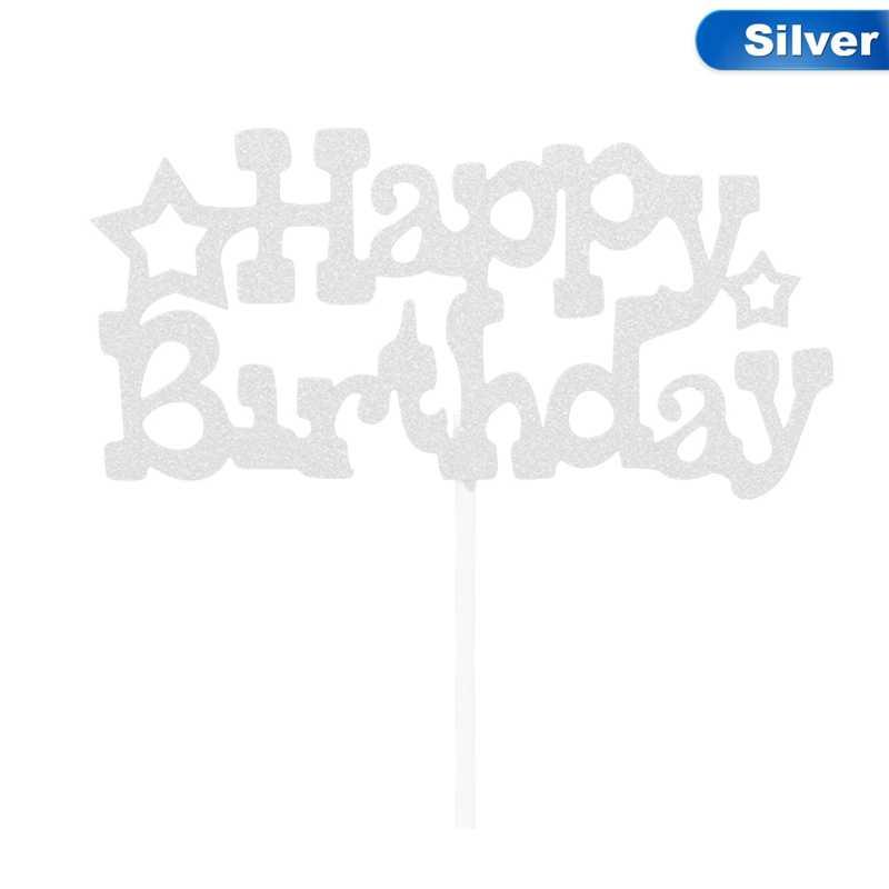 Feliz aniversário bolo decoração cartão cupcake bolo bandeiras dupla vara para festa de aniversário da família cozimento decoração suprimentos