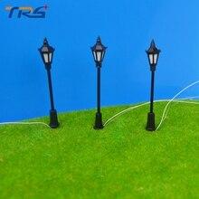 2017 Miniature Model Landscape Layout 3v LED Warm White Color 7cm Model Lamppost