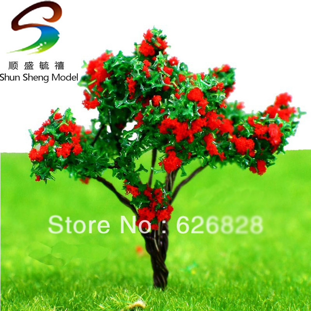 20pc scale model tree model material wire blooms blooms 6cm