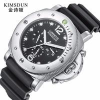 Kimsdun relógio masculino moda casual esporte relógio mecânico dos homens relógios marca superior de luxo banda borracha à prova dlogiágua relógio relogio 2019
