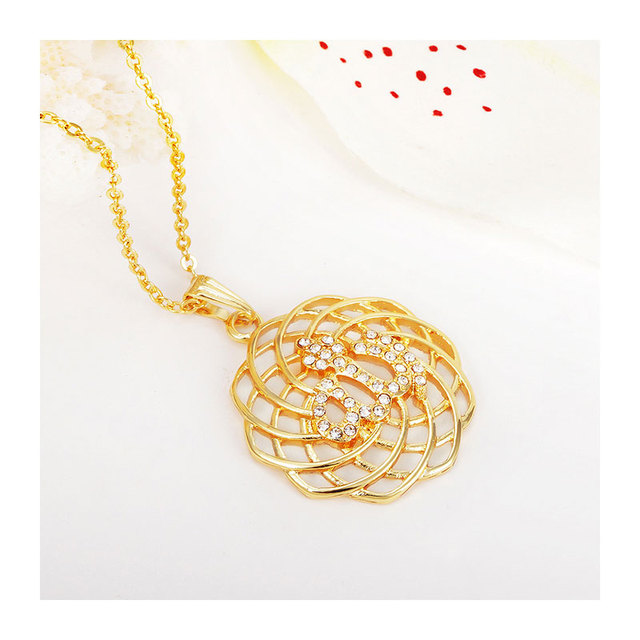 islam gorjuss allah muslim islamic fine jewelry necklace Fashion Gold Color Necklaces Pendants pendant fashion crystal jewellery 5