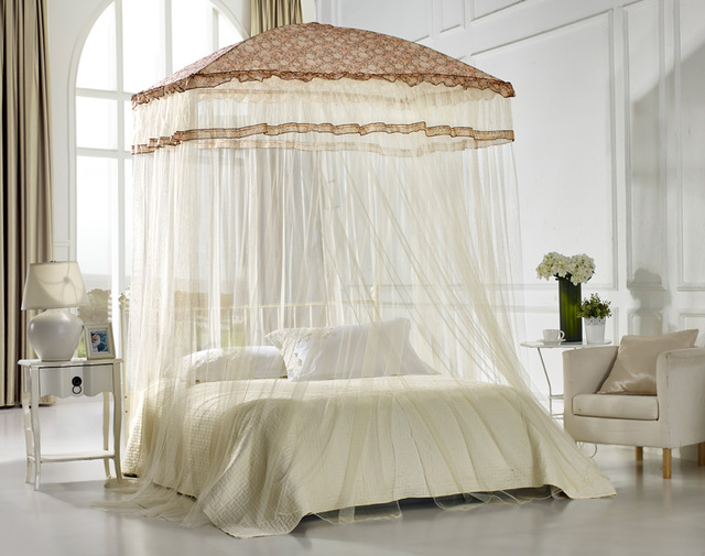 Eskimo Mosquito Net For Double Bed Portable Canopy S Yellow Color High Quality Free Shipping