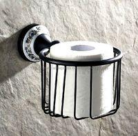 Bathroom Accessories Black Color Brass Toilet Roll Holder,Toilet Paper Holder, Bronze WC Paper Basket Bba290