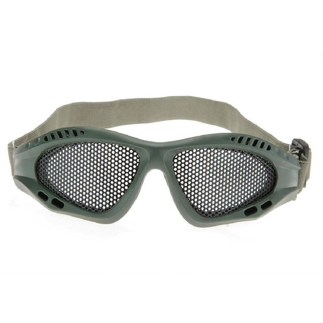 00659db58a2 Metal Mesh Anti-Fog Goggles Glasses Paintball Tactical Airsoft Eye  Protective Safety Goggles For Hunting Shooting