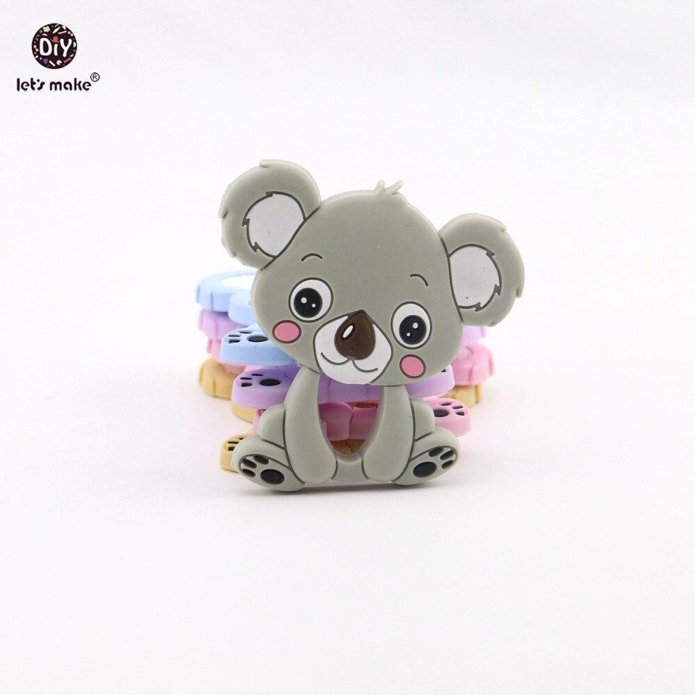 Виготовимо Силіконові прорізування зубів Коала Брелоки Аксесуари для годування Пончики Силіконові RaccoonTeether Baby Shower Подарункові іграшки