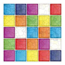 Cocotik High Quality 10x10 Anti-mold Peel and Stick 3D Wall Tile in Colorful - Pack of 6